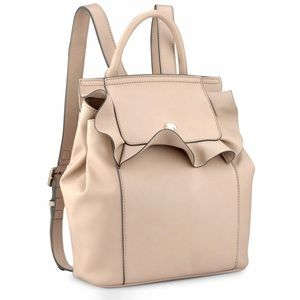 Nine West blush pink small ruffle flap backpack